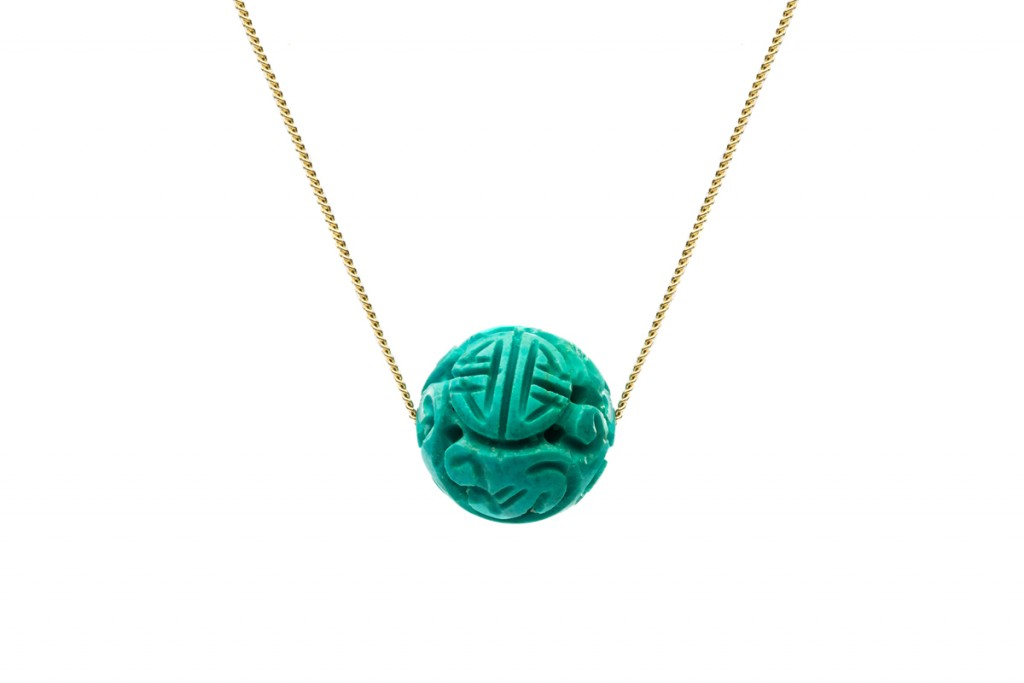 T Old Turquoise Pendant